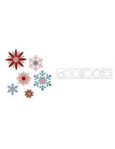 Sizzlits Decorative Strip Die - Winter Elements by Paula Pascual