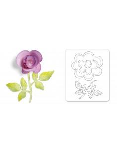 Sizzlits Die - Flower, 3-D...