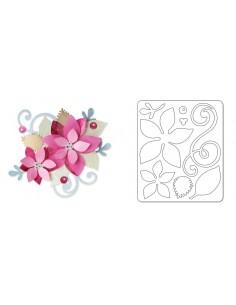 Sizzlits Die - Poinsettia Swirls by Brenda Walton