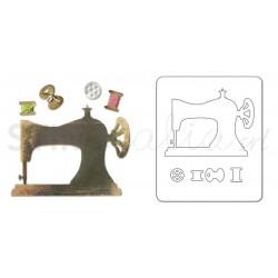 Sizzlits Die - Sewing Machine & Bobbins by Jen Long-Philipsen