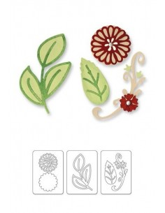 Sizzlits Die Set 3PK - Floral Botanical Set by Scrappy Cat