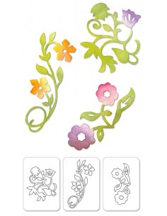 Sizzlits Die Set 3PK - Flower Vines Set by Scrappy Cat