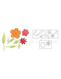 Sizzlits Die Set 3PK - Flowers & Leaves Set by Dena Designs