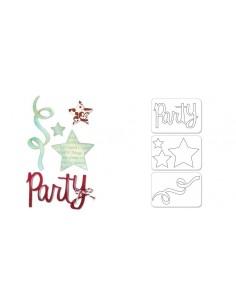 Sizzlits Die Set 3PK - Party Set 2 by Karen Burniston