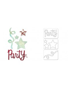 Sizzlits Die Set 3PK - Party Set 2 by Karen Burniston