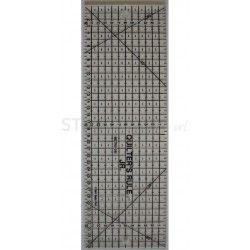 "Squadra Rettangolare ""QR"" - Nero – 11x35 cm."
