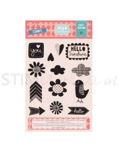 Stamp Set 13pcs- Clear Stamps - Hello Sunshine
