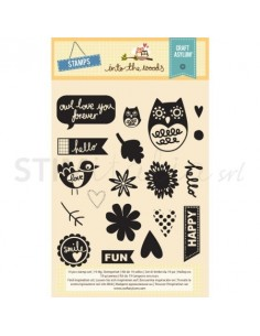 Stamp Set 19pcs - Clear Decorative Stamps - Into the Woods