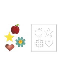 AllStar Die -Apple, Flower, Heart & Star