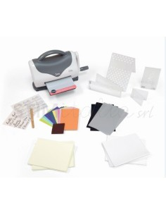 Texture Boutique™ Embossing Machine Starter Kit (White & Gray) by Ellison®