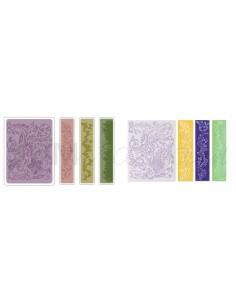 Texture Fades Embossing Folders 4PK - Springtime Background & Borders Tim Holtz