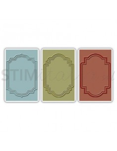 Texture Trades Embossing Folders 3PK - Outline Labels Set by Tim Holtz