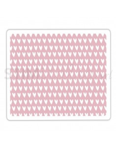 Textured Impressions Embossing Folder - Candy Hearts by Craft Asylum