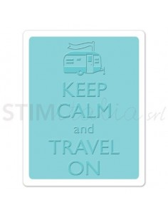 Textured Impressions Embossing Folder - Keep Calm and Travel On by Eileen Hull