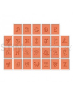 Textured Impressions Embossing Folders 26PK -Eclectic Monograms Where Women Cook