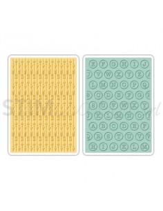 Textured Impressions Embossing Folders 2PK - Arrows & Typewriter Keys by