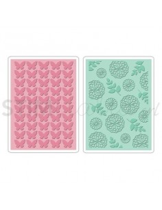 Textured Impressions Embossing Folders 2PK - Butterfly & Garden Set by KI