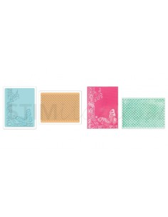 Textured Impressions Embossing Folders 2PK - Butterfly Lattice Set by Rachael Br