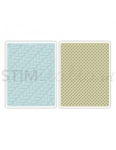 Textured Impressions Embossing Folders 2PK - Houndstooth & Dots Set by Echo