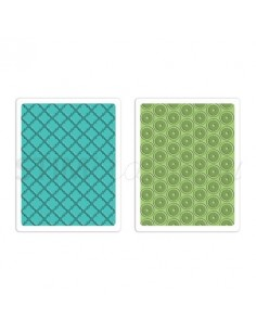 Textured Impressions Embossing Folders 2PK - Playful & Flower Circle Set by SB