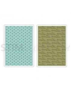Textured Impressions Embossing Folders 2PK - Smile & Plus Set by KI Memor