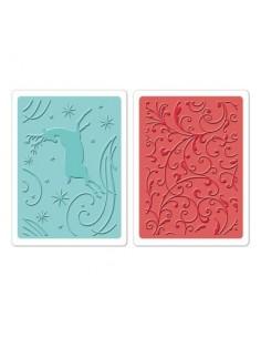 Textured Impressions Embossing Folders 2PK - Starry Night Set by Brenda Walton