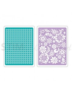 Textured Impressions Embossing Folders 2PK - Sweet Dots & Florals Set by