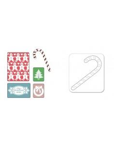 Textured Impressions Embossing Folders w/Bonus Sizzlits Die - My Christmas Wish