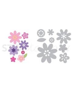 Thinlits Die Set 11PK - Flower Layers & Leaf by Stephanie Barnard