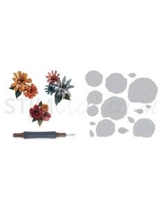 Thinlits Die Set 15PK - Spiral Flowers by Tim Holtz