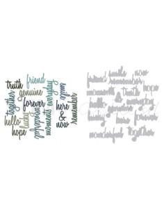 Thinlits Die Set 16PK - Friendship Words: Script by Tim Holtz