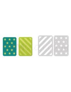"""Thinlits Die Set 2PK - 3"""" x 4"""" Cards 2 by Lori Whitlock"""