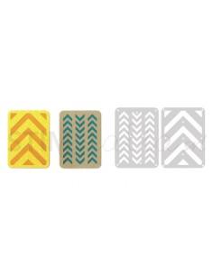 """Thinlits Die Set 2PK - 3"""" x 4"""" Cards 3 by Lori Whitlock"""