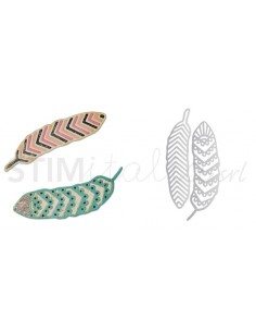 Thinlits Die Set 2PK - Lattice Feathers by Craft Asylum