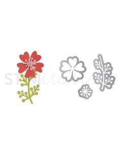 Thinlits Die Set 3PK - Flower w/Heart Petals & Stem by Pete Hughes