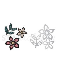 Thinlits Die Set 3PK - Intricate African Florals by Craft Asylum