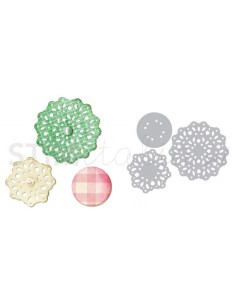 Thinlits Die Set 3PK - Lace, Layering Decorator by Scrappy Cat