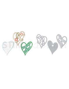 Thinlits Die Set 3PK - Layers of Love by Scrappy Cat