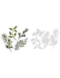 Thinlits Die Set 4PK - Holiday Greens by Tim Holtz