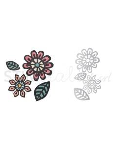 Thinlits Die Set 4PK - Intricate Native Florals by Craft Asylum