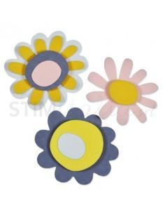 Thinlits Die Set 4PK Sunny Flower by Craft Asylum
