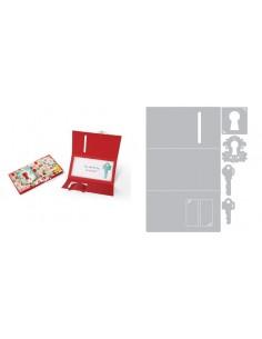 Thinlits Die Set 5PK - Card w/Folding Closure & Keys by Rachael Bright