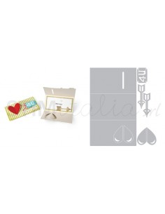 Thinlits Die Set 5PK - Card w/Folding Closure, Hearts & Arrows by RachB