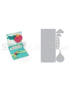Thinlits Die Set 5PK - Card, Square w/Center Accordion Folds by Rach B