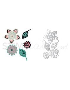 Thinlits Die Set 5PK - Intricate Tribal Florals by Craft Asylum