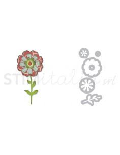 Thinlits Die Set 6PK - Flower Layers & Stem by Eileen Hull