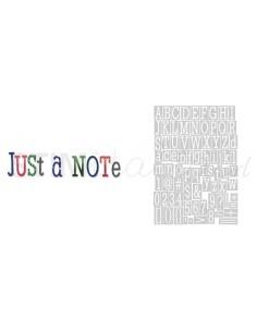 Thinlits Die Set 79PK Just a Note Alphabet by Jen Long