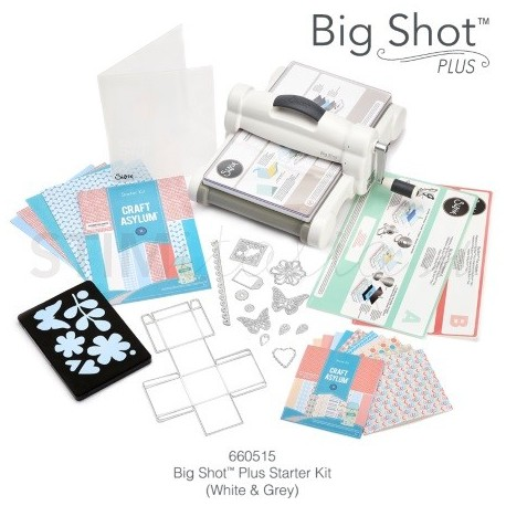 Big Shot Plus Starter Kit (White & Gray) NEW - by Ellison
