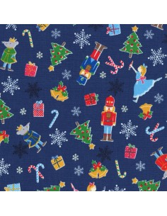 31317-71 - Lecien L's Modern Magical Winter Time! - Cotone Stampato Giapponese