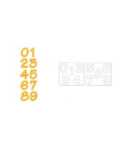 Bigz Alphabet Set 2 Dies - Lollipop Shadow Numbers by E.L. Smith